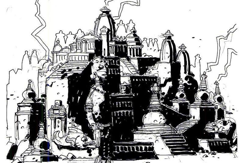 Illustration for article titled Mike Mignola's Otherworldly Concept Art For Disney's Atlantis
