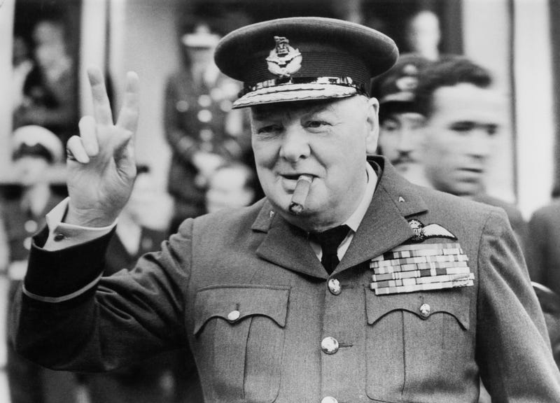 Winston Churchill in 1948 (Photo by Central Press/Hulton Archive/Getty Images)