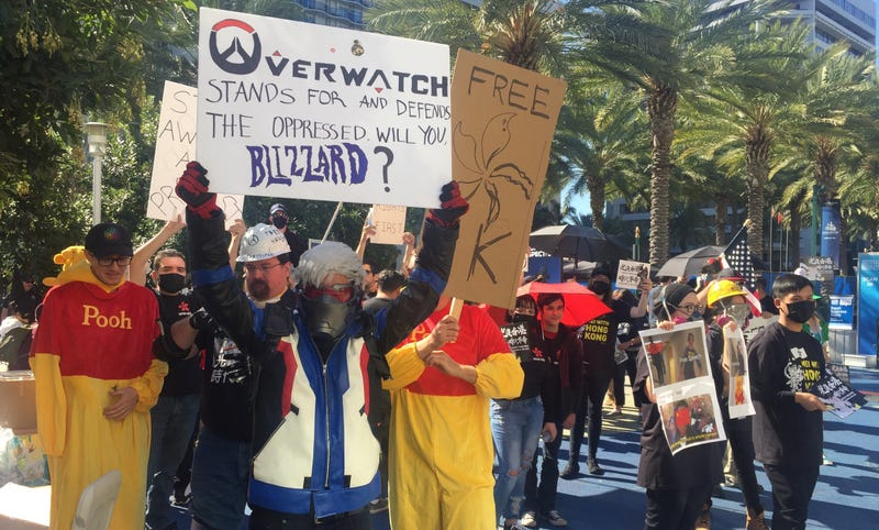 Illustration for article titled Hong Kong Protests Are Growing Outside Of BlizzCon [Update]