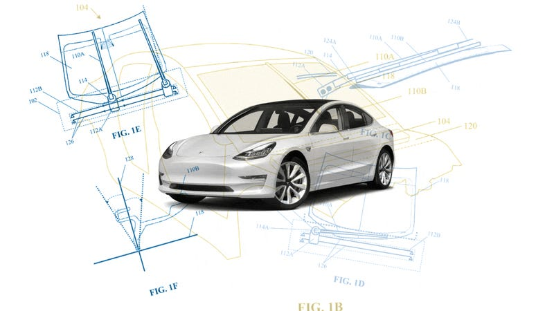 Telsa's 'Electromagnetic Windshield Wiper' Patent Looks Pretty Cool For A Windshield Wiper