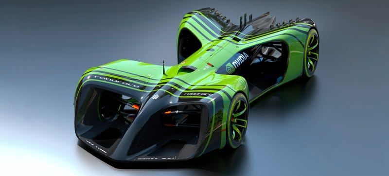 Illustration for article titled The Roborace Cars Will Use Nvidia Computers to Make 24 Trillion AI Operations a Second