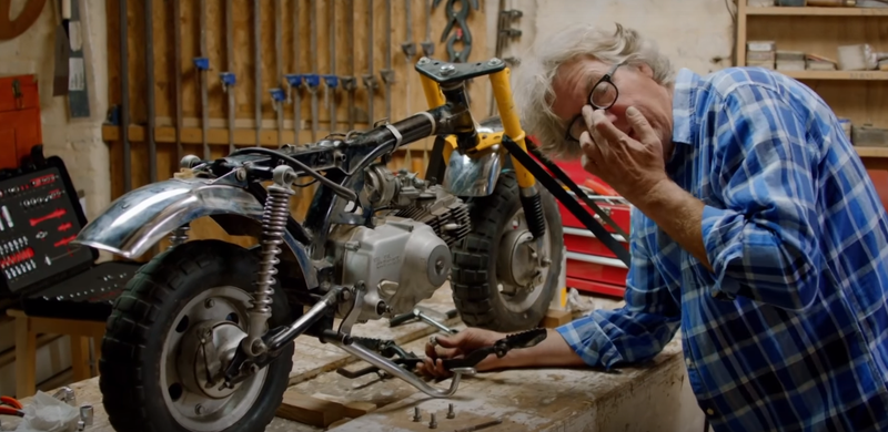 It's Friday Afternoon, Blow Off Work And Watch James May Build This Mini Honda Motorcycle