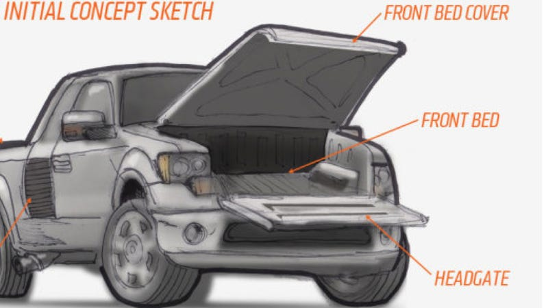 Illustration for article titled The Front Bed Idea Works As Long As It Doesn't Follow Other Cars