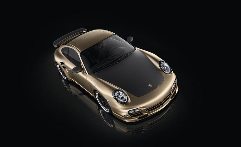 Illustration for article titled Porsche marks ten years in China with golden 911 Turbo S