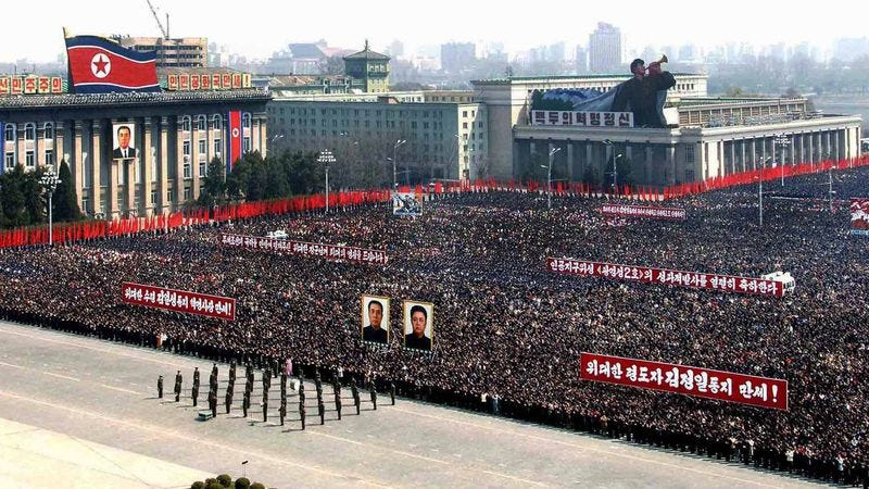 Pyongyang, the capital city of Earth's new rulers.