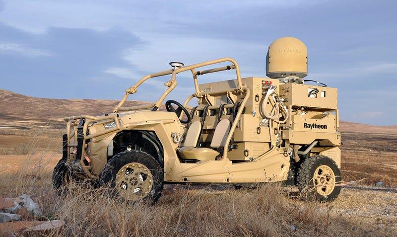 El sistema cabe en un vehículo ligero. Foto: Raytheon