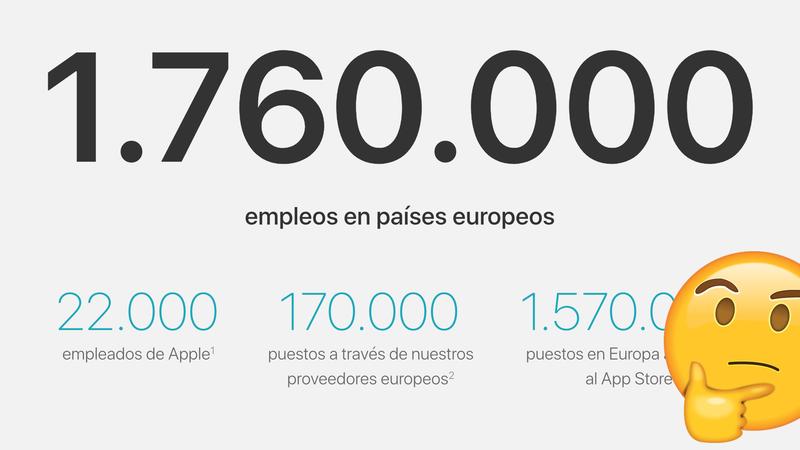 Illustration for article titled Apple dice que ha creado 1,76 millones de empleos en Europa, pero eso es ridículo
