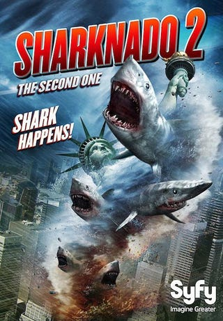 Illustration for article titled I still don't understand the hype for this: Sharknado 2