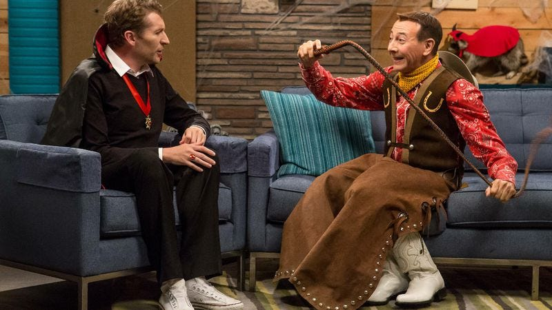 """Illustration for article titled Comedy Bang! Bang!: """"Pee-wee Herman Wears A Halloween Costume"""""""