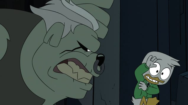 It takes a literal monster for Louie to learn humility on shrugworthy, penultimate DuckTales