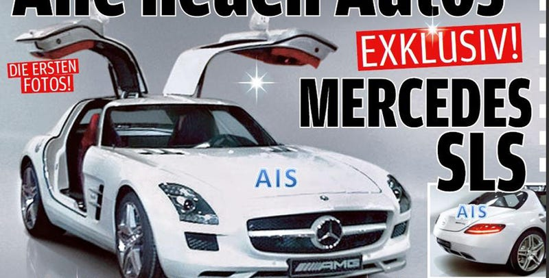 Illustration for article titled Mercedes SLS Gullwing Leaked!