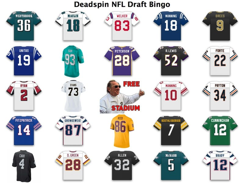 Illustration for article titled We Have An NFL Draft Jersey Bingo Winner