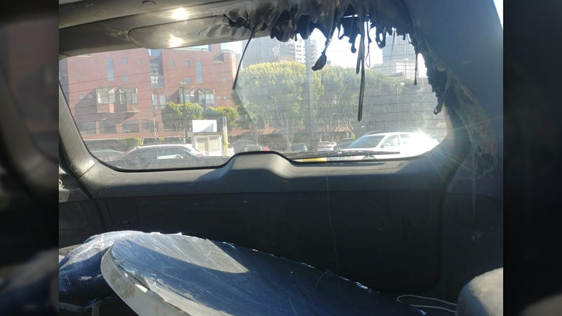 Illustration for article titled Here's Why You Shouldn't Leave a Giant Parabolic Mirror in Your Car on a Sunny Day
