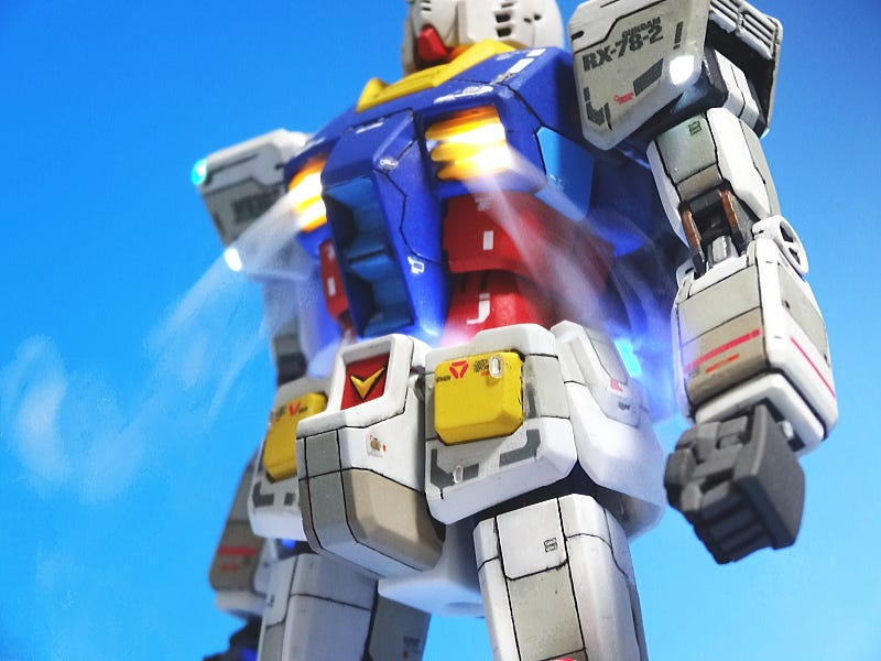 Illustration for article titled Gundam Figure Is Smokin' Hot