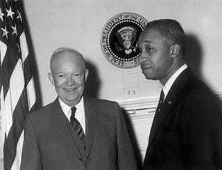 E. Frederic Morrow with President Eisenhower.