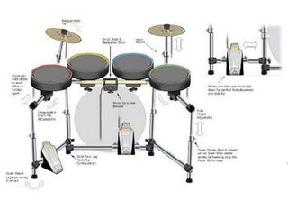 Illustration for article titled Mad Catz' Exciting Rock Band Instruments Hit Next Week