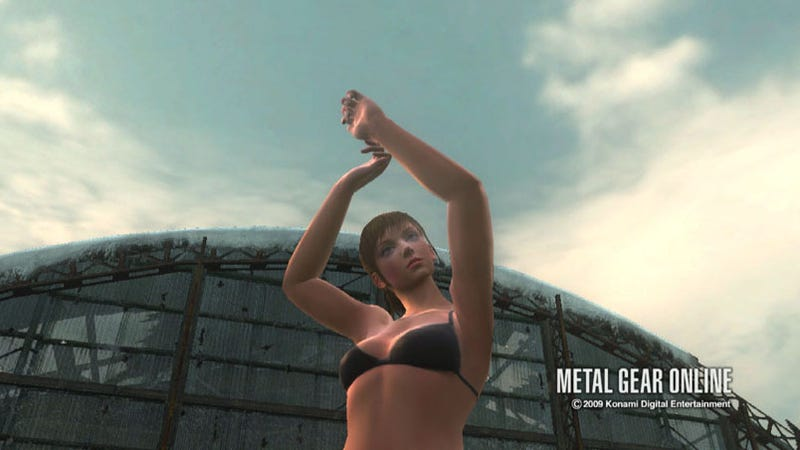 Illustration for article titled Metal Gear Online Bikinis Are Online