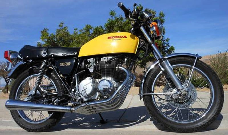 Illustration for article titled For $5,950, This 1976 Honda CB400F Could Be Four Into Wonderful