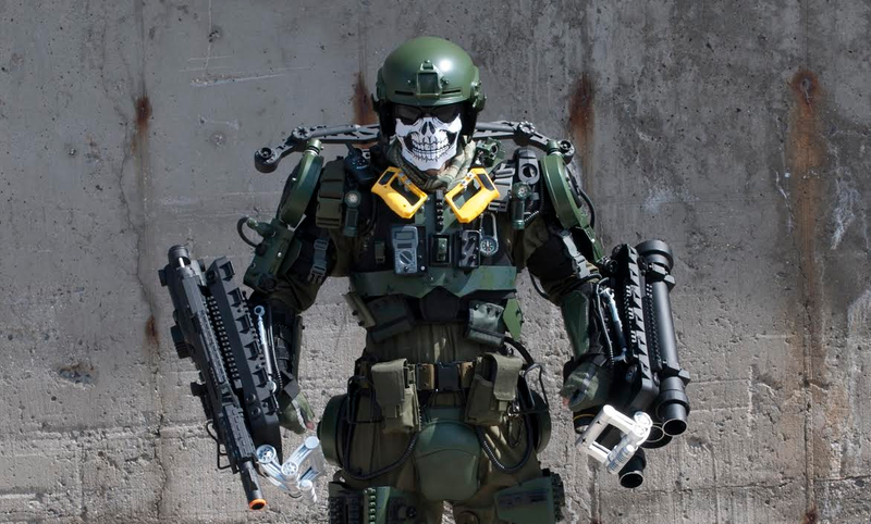 Illustration for article titled This Badass ExoSuit From Edge Of Tomorrow Is Constructed From Junk