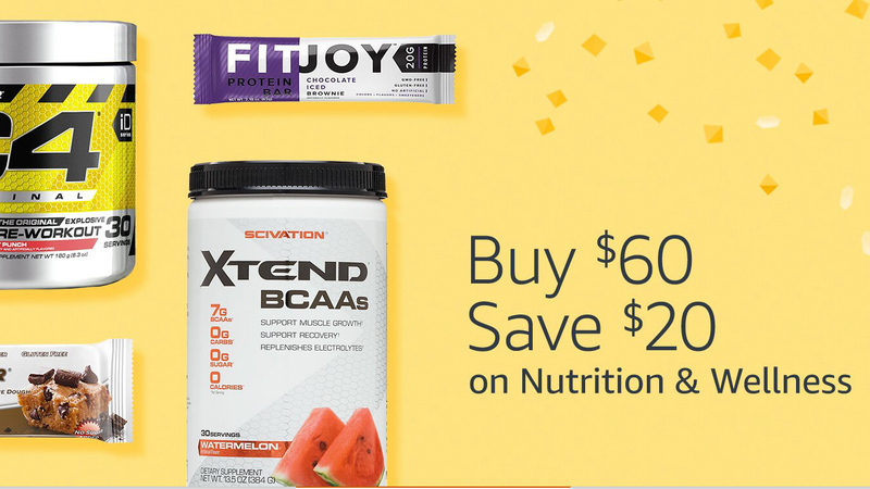 $20 off $60 in Nutrition & Wellness