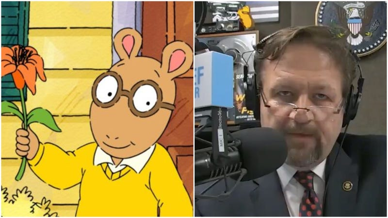 "Illustration for article titled Sebastian Gorka filling diapers over kids' show Arthur: ""We're in a war for our culture"""