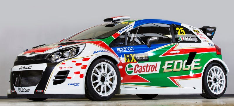 Illustration for article titled World Rallycross Kia Rio Proves That Everything Looks Cool In Race Trim