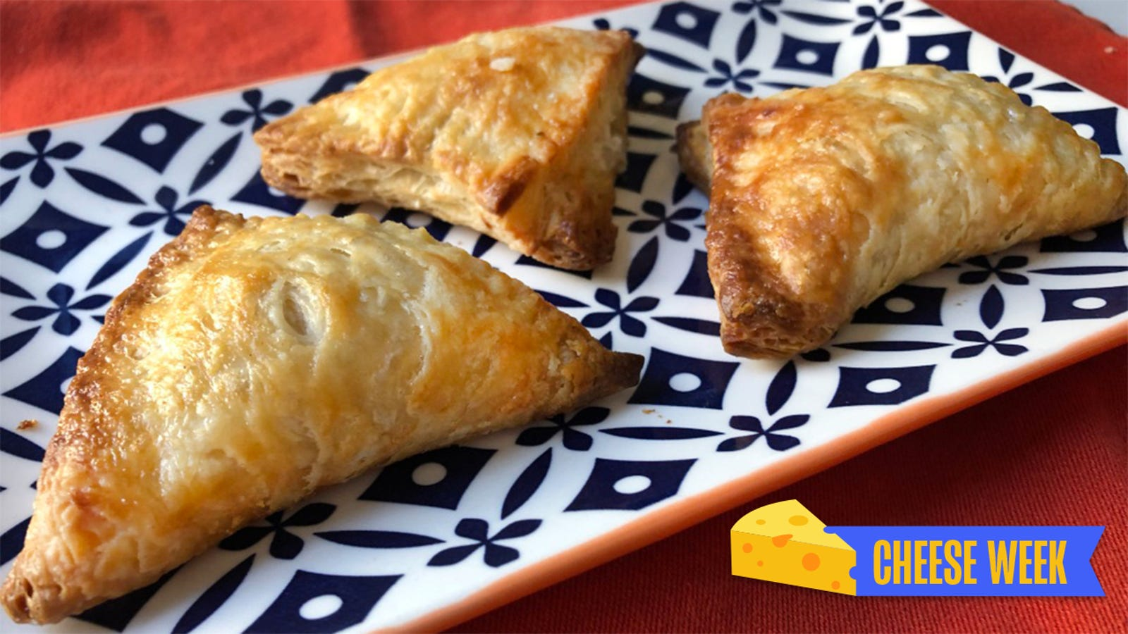 Cheese-stuffed hand pies with cheese crust is cheese plus cheese multiplied by cheese