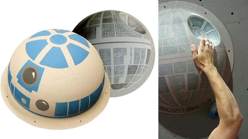 Illustration for article titled Nerdy Climbing Wall Holds Prove Even Star Wars Fanboys Stay Fit