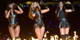 Kelly Rowland, Beyoncé Knowles and Michelle Williams, formerly of Destiny's Child (Kevin Mazur/WireImage/Getty Images)