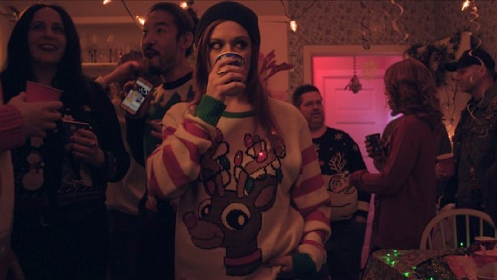 A Slasher Crashes an Ugly Sweater Party in Holiday Horror Short Do You See What I See?