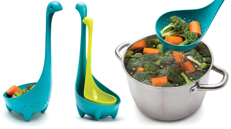 Illustration for article titled Aww, There's a Colander Spoon Version of That Adorable Loch Ness Ladle