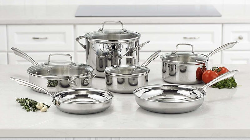 Cuisinart 10-Piece Tri-Ply Cookware Set | $177 | Amazon | Discount shown at checkoutCuisinart 17-Piece Chef's Classic Cookware Set | $120 | Amazon | Discount shown at checkoutCuisinart 17-Piece Nonstick Cookware Set | $126 | Amazon | Discount shown at checkout