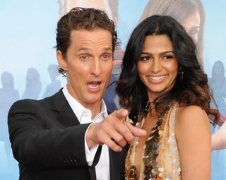 """Illustration for article titled McConaughey Deals With A Meddling Mom; KStew """"Speaks Vaguely"""""""
