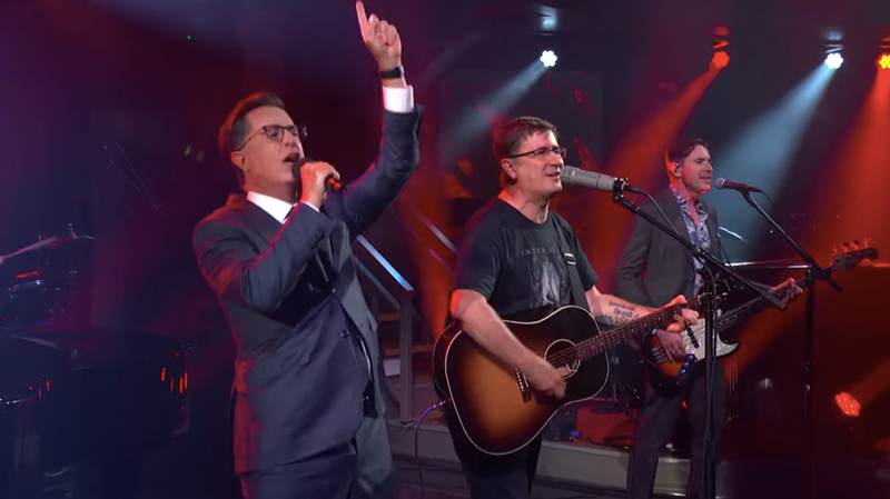 "Watch Stephen Colbert make it through ""This Year"" with The Mountain Goats"