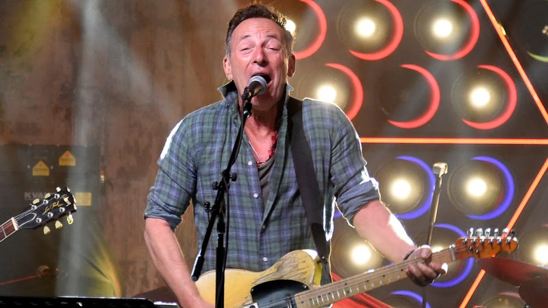 Here's Springsteen, performing at the opening of a local Asbury Park bowling alley like a...well, you know.