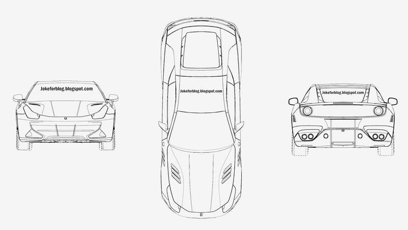 Illustration for article titled Could That Ferrari FF Coupe Be A Ferrari California Targa?
