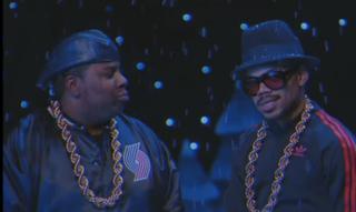 "Kenan Thompson and Chance the Rapper in ""Jingle Barack"" skit on Saturday Night Live on Dec. 17, 2016YouTube Screenshot"