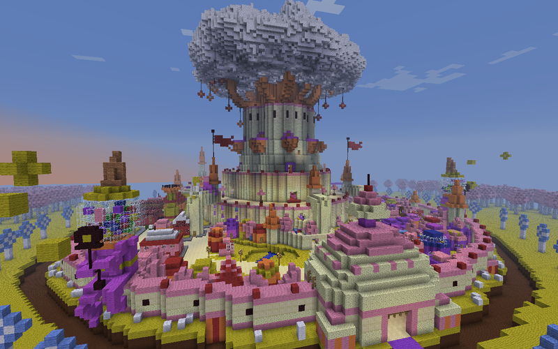 Illustration for article titled The Glorious, Edible Candy Kingdom of Adventure Time Recreated In Minecraft
