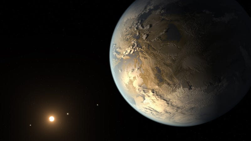 An artist's conception of Kepler-186f, an Earth-like planet that could contain the chemical ingredients for life (Image: NASA Ames/SETI Institute/JPL-Caltech)