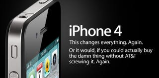 Illustration for article titled AT&T Suspends iPhone 4 Pre-Ordering After System Collapse
