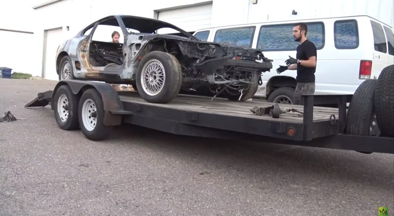 Watch This Guy Restore A Rusted Shell Of A MKIV Toyota Supra