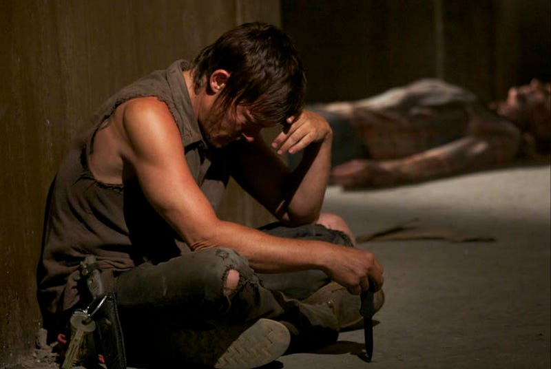 Illustration for article titled The Walking Dead Midseason Finale Made Daryl Cry For An Hour. AN HOUR.