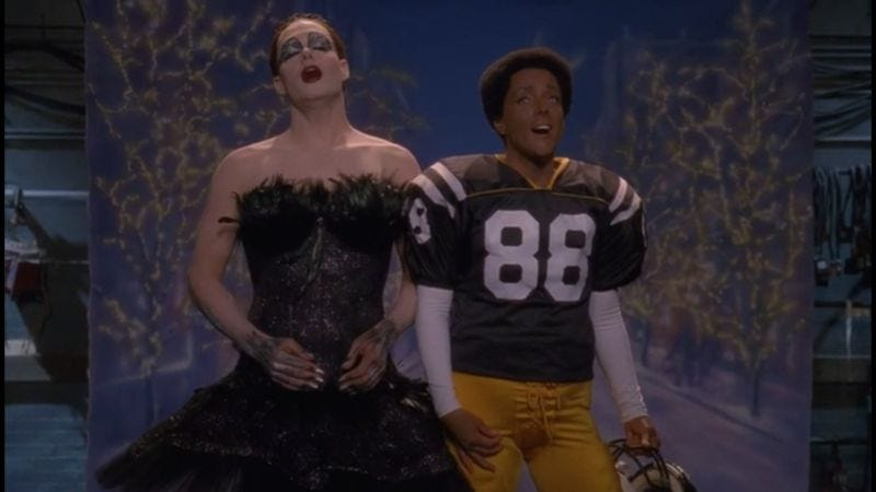 Illustration for article titled Bathe in this delirious supercut of every 30 Rock musical performance