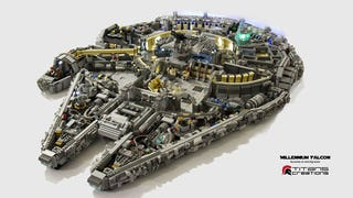 Illustration for article titled It Took 10,000 LEGO Bricks To Build The Millennium Falcon's Interior