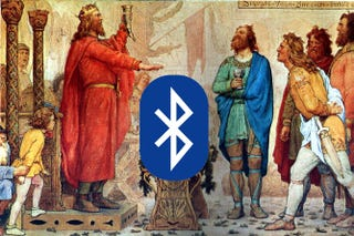 Illustration for article titled Bluetooth is named after a medieval king who may have had a blue tooth