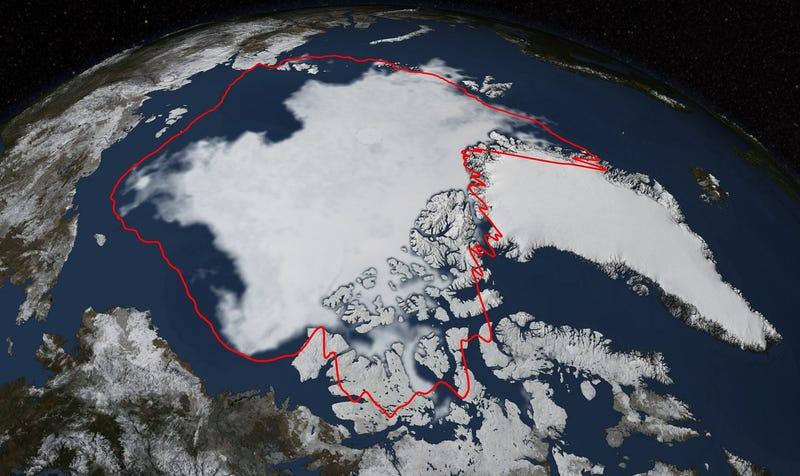Illustration for article titled El hielo del Océano Ártico alcanza el sexto valor mínimo en 35 años