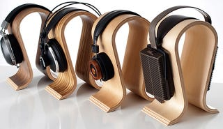 Illustration for article titled Omega Headphone Stands: For Alpha Audiophiles Only