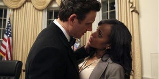 Tony Goldwyn as President Fitzgerald Grant III and Kerry Washington as Olivia Pope in Scandal (screenshot)