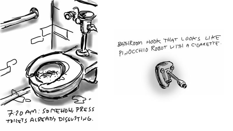 Illustration for article titled Livesketching the 2012 Detroit Auto Show: The Toilets