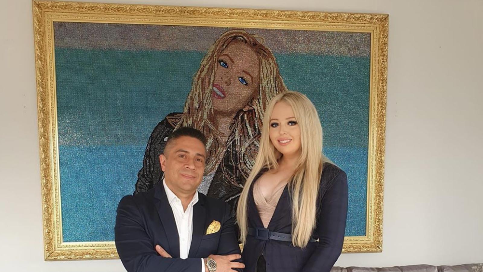 Mr  Bling Colombia's Swarovski Crystal Tiffany Trump Portrait